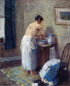 Art Prints of Woman Washing by Robert Spencer