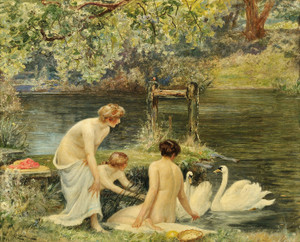 Art Prints of A Summer Morning by Robert Walker Macbeth