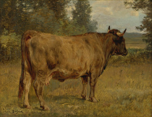 Art Prints of Bull in a Landscape by Rosa Bonheur