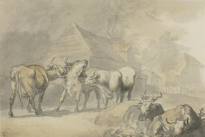 Art Prints of Cows in a Hamlet by Rosa Bonheur
