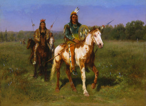 Art Prints of Indians on Horseback armed with Spears by Rosa Bonheur