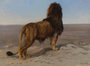 Art Prints of Lion, the Lookout by Rosa Bonheur