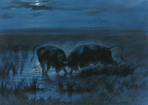 Art Prints of Moonlight Battle by Rosa Bonheur
