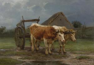 Art Prints of Oxen Pulling a Cart by Rosa Bonheur