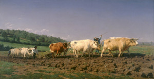 Art Prints of Ploughing in Nevers by Rosa Bonheur