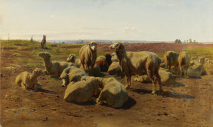 Art Prints of Watching His Flock by Rosa Bonheur