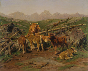 Art Prints of Weaning the Calves by Rosa Bonheur