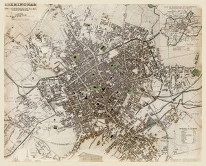Art Prints of Great Britain, Birmingham, 1839 (0890164), Great Britain Map