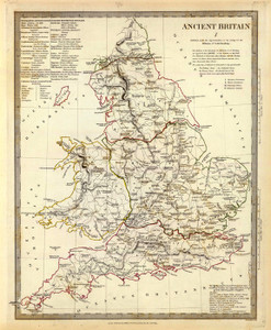 Art Prints of Ancient Britain, 1834 (0890023), Great Britain Map