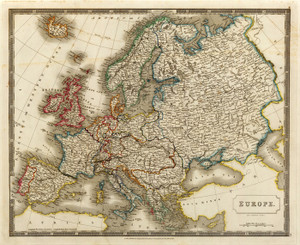 Art Prints of Europe, 1828 (4224004) by S. Hall