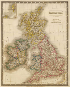 Art Prints of British Isles 1829, (4224005) by S. Sidney Hall
