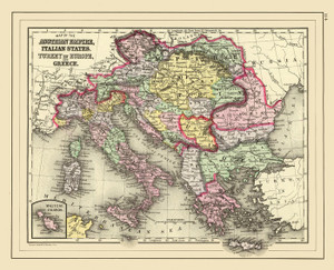 Art Prints of Austrian Empire, 1890 (0594063) by Samuel Augustus Mitchell