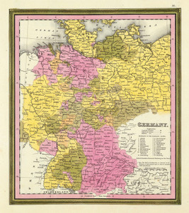 Art Prints of Germany, 1846 (0537051) by Samuel Augustus Mitchell