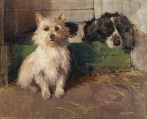 Art Prints of Cairn Terrier and Spaniel by Samuel Fulton