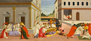 Art Prints of The Three Miracles of Saint Zenobius III by Sandro Botticelli