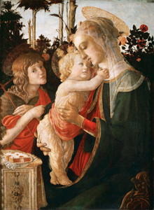 Art Prints of Madonna and Child with Saint John the Baptist II by Sandro Botticelli