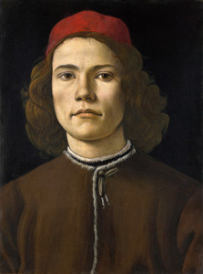 Art Prints of Portrait of a Young Man by Sandro Botticelli