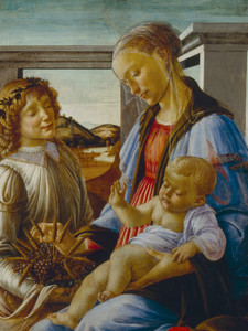 Art Prints of Virgin and Child with Angel by Sandro Botticelli