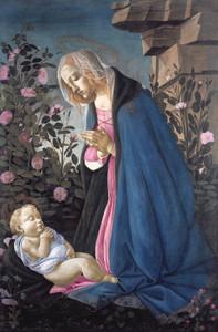 Art Prints of The Virgin Adoring the Sleeping Christ Child by Sandro Botticelli