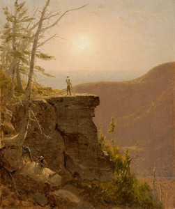 Art Prints of A Ledge on the South Mountains, catskills by Sanford Robinson Gifford