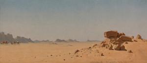 Art Prints of The Desert at Assouan Egypt by Sanford Robinson Gifford