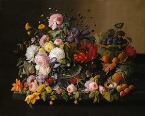 Art Prints of Still Life Flowers and Fruit by Severin Roesen