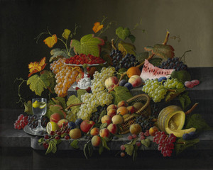 Art Prints of Abundant Fruit by Severin Roesen