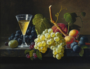 Art Prints of Still Life with Champagne by Severin Roesen