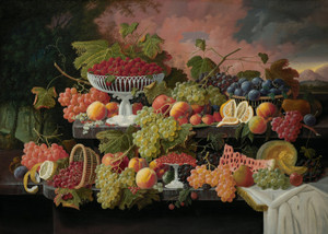Art Prints of Two Tiered Still Life with Fruit by Severin Roesen