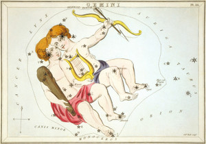 Art Prints of Gemini, Plate 18, View of the Heavens by Sidney Hall