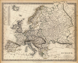 Art Prints of Europe, 1836 (0890010), Society for the Diffusion of Useful Knowledge
