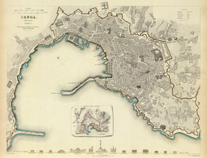 Art Prints of Genoa, 1836 (0890179), Great Britain Map