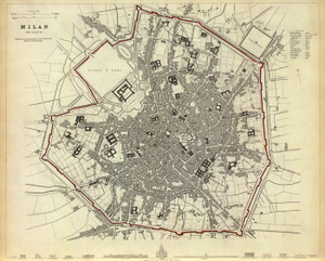 Art Prints of Milan, 1832 (0890188), Great Britain Map