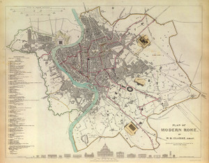 Art Prints of Modern Rome, 1830 (0890202), Great Britain Map