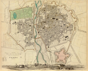Art Prints of Parma, 1840 (0890197), Great Britain Map