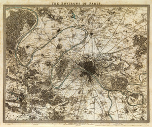 Art Prints of Paris Environs, 1832 (0890196), Great Britain Map