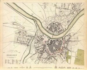Art Prints of Dresden, 1833 (0890171), Great Britain Map
