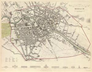 Art Prints of Berlin, 1833 (0890163), Great Britain Map