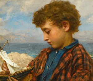 Art Prints of The Young Yachtsman by Sophie Anderson