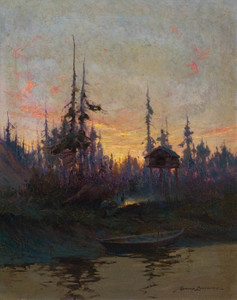 Art Prints of Cache on the Yukon by Sydney Laurence