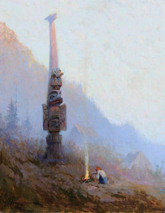 Art Prints of Chief Johnson's Totem by Sydney Laurence