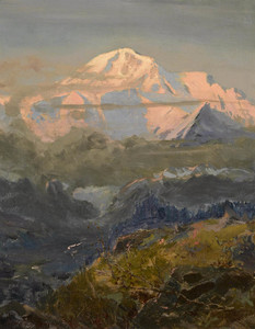 Art Prints of Evening Glow on Mount McKinley by Sydney Laurence