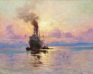 Art Prints of Fishing Vessel at Sea by Sydney Laurence