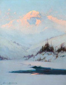 Art Prints of Winter Twilight on Mt. McKinley by Sydney Laurence