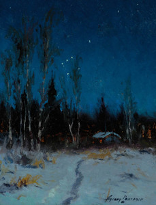 Art Prints of The Starlit Night, Anchorage, Alaska by Sydney Laurence