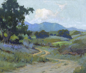 Art Prints of A Road Through the Larkspur by Sydney Laurence