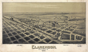 Art Prints of Clarendon, Texas, 1890 by Thaddeus Mortimer Fowler