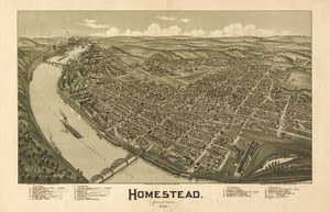 Art Prints of Homestead, Pennsylvania, 1902 by Thaddeus Mortimer Fowler
