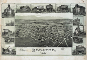 Art Prints of Decatur, Texas, 1890 by Thaddeus Mortimer Fowler