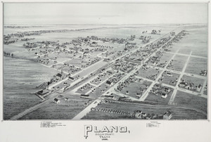 Art Prints of Plano, Texas, 1891 by Thaddeus Mortimer Fowler